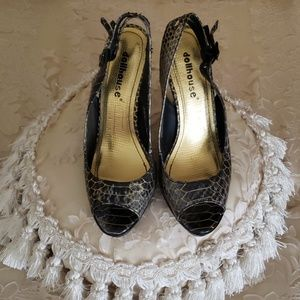 Dollhouse Peeptoe Pumps, Size 8